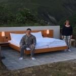Hotel sem paredes coloca hóspedes para dormir no meio dos Alpes Suíços