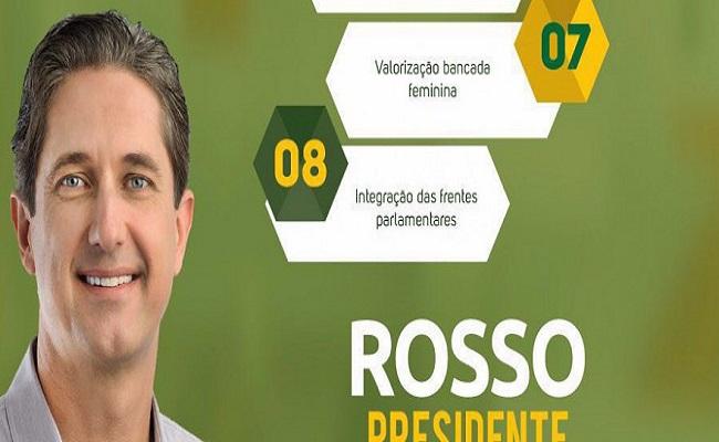 Mesmo antes de oficializar candidatura, Rosso tem material de campanha
