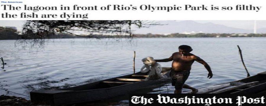 Washington Post se espanta com Rio de Janeiro e diz 'Olimpíada da sujeira'