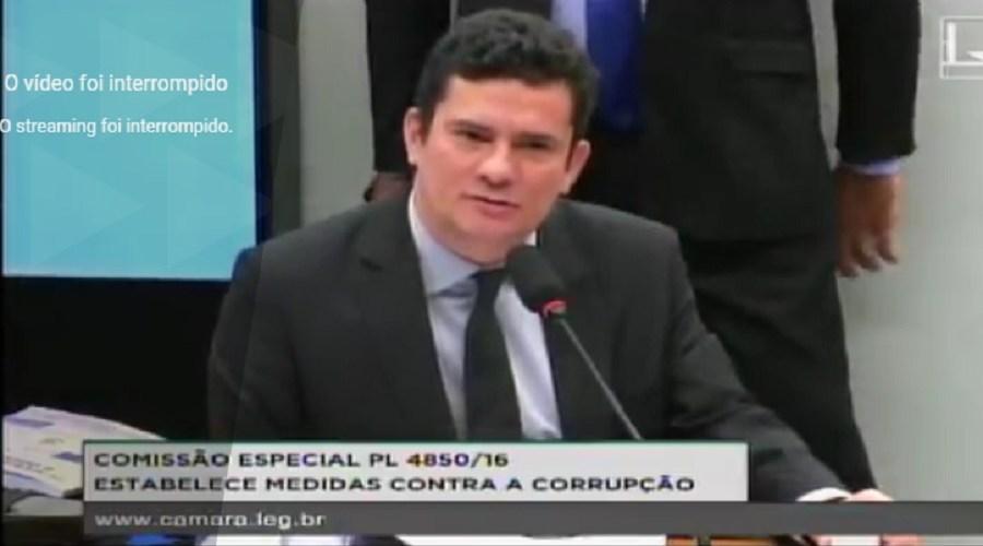 Durante discurso de Moro na Câmara, pokémon aparece no plenário
