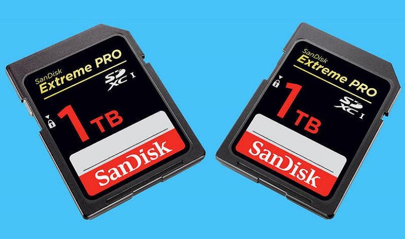 SanDisk apresenta primeiro cartão SD com 1 TB de memória