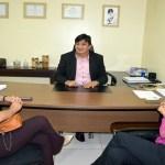 Cleiton Roque e presidente do PSB Mulher discutem apoio para Rolim de Moura