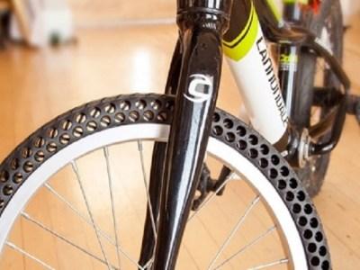 Empresa norte-americana inventa novo tipo de pneu sem câmara de ar para bicicletas