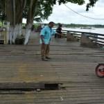 Defesa Civil interdita deck da Praça da Estrada de Ferro em Porto Velho