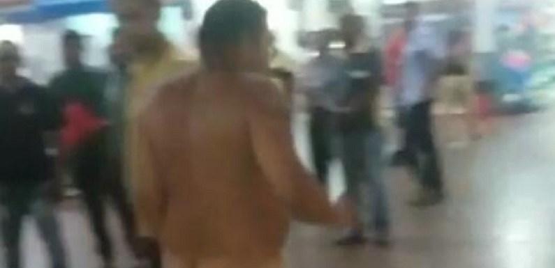 Homem mistura drogas, surta e sai correndo pelado na rodoviária de Porto Velho