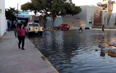 Ruas próximas ao aquário ainda estão alagadas Foto: Reprodução