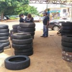Operação apreende pneus riscados em borracharias de Campo Grande