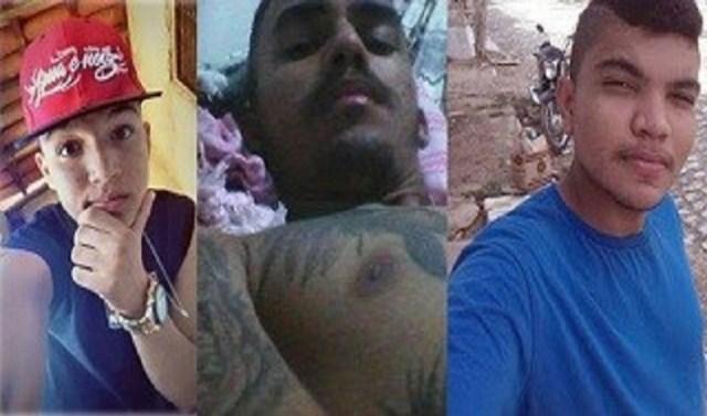 Kaynan Gomes, Eduardo Nunes e Israel Gomes foram baleados e morreram no local