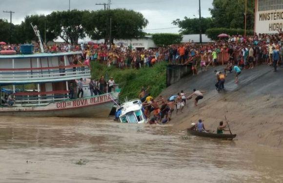 Condutor de lancha que afundou no Rio Madeira é detido, no AM