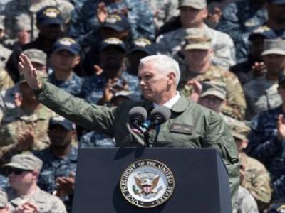 Vice dos EUA promete 'resposta esmagadora' à Coreia do Norte