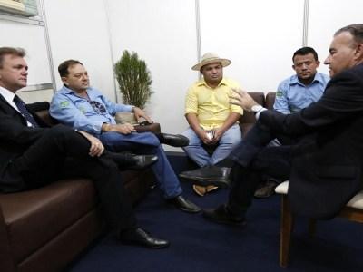 Luizinho Goebel, prefeito e vereadores discutem modelo de gestão da saúde municipal