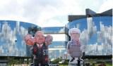 Manifestantes usam bonecos para criticar Janot e Gilmar Mendes