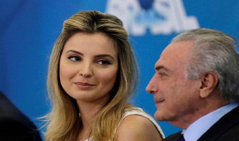 Marcela e Michel Temer teriam viajado em jato da JBS