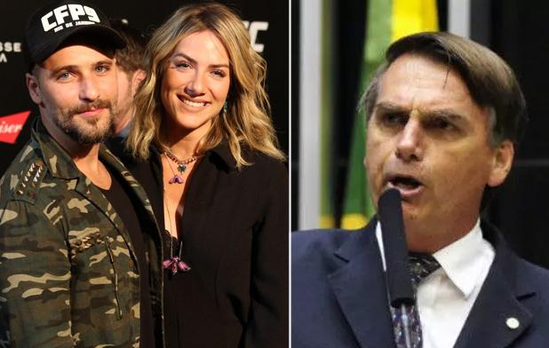 Filho de Bolsonaro responde Gagliasso após ator deixar evento por causa de seu pai