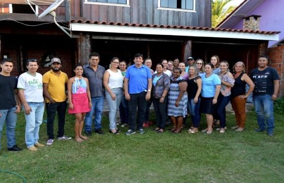 Cleiton Roque se reúne com vereadora de São Felipe e agentes de saúde