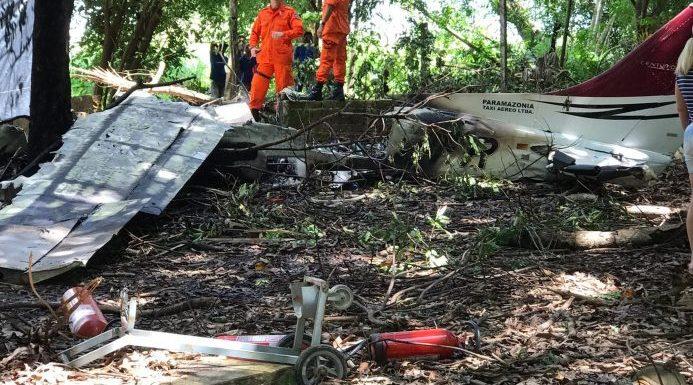 Avião particular fretado pelo Exército cai no interior de RR e quatro morrem