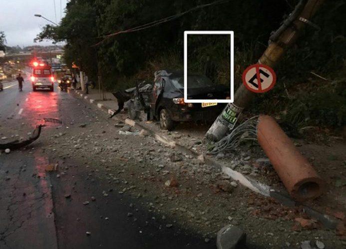 'Demônio' aparece em foto de acidente em SP e imagem viraliza na internet