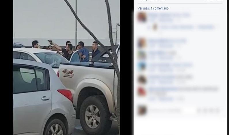Homem saca arma em briga generalizada após show de Wesley Safadão em Roraima
