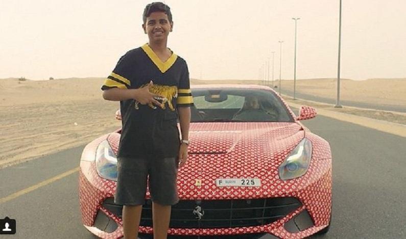 Filho de bilionário cobre Ferrari com logotipo da Louis Vuitton