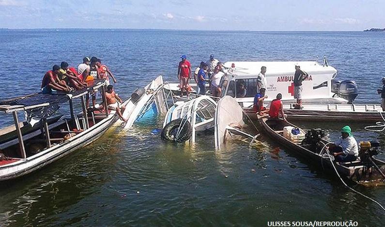 Barco que afundou no Pará partiu com 30 toneladas de carga