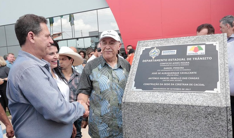 Maurão de Carvalho participa da inauguração de nova Ciretran de Cacoal