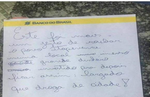 Ladrão furta ONG e deixa bilhete reclamando de abandono em Itapeva (SP)