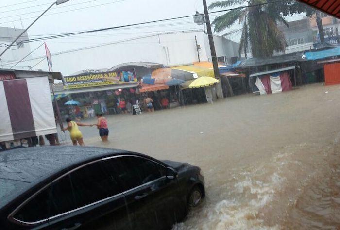 Forte chuva causa alagamentos e prejuízos (de novo) em Porto Velho; vídeos