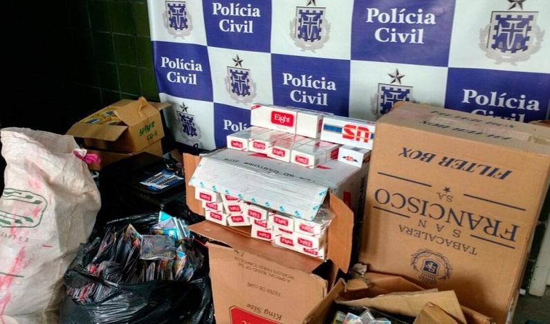 Sessenta mil cigarros ilegais e munições de uso restrito das forças armadas são apreendidos na Bahia