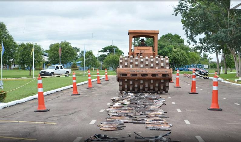 Exército destrói 4,4 mil armas apreendidas no Acre, Amazonas e Rondônia