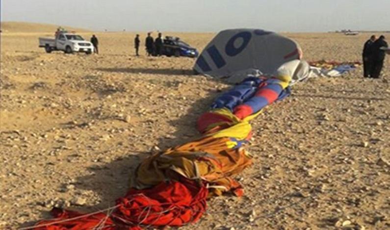 Acidente com balão de ar quente no Egito mata 1 e fere 12 pessoas