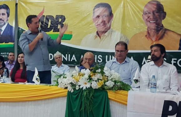 """Em encontro do MDB, Raupp confirma candidatura de Maurão mas quer """"arco de alianças"""""""