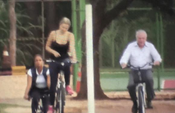 Temer passa o sábado em Brasília, pedala com esposa no Jaburu e tenta aproximação com STF após quebra de sigilo