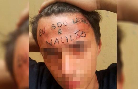 """Jovem que teve testa tatuada com """"ladrão e vacilão"""" é preso por furto em SP"""