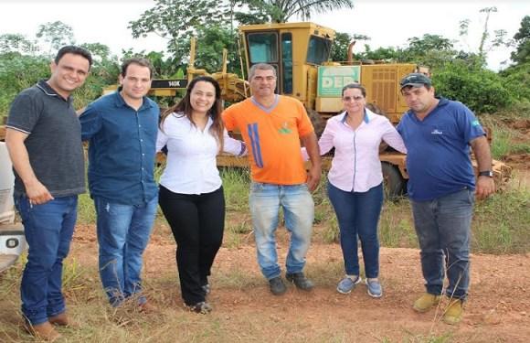 Deputada Rosangela Donadon intervém e DER inicia recuperação de estrada vicinal em Cabixi