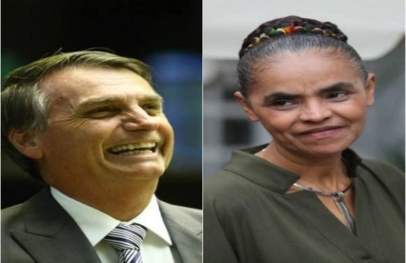 Bolsonaro e Marina estão tecnicamente empatados no cenário sem Lula, diz pesquisa Ibope
