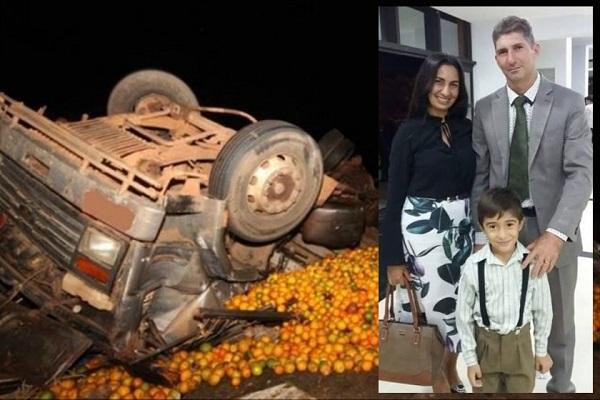 Família de cantora gospel morre após ter carro esmagado por carga de laranja no interior de SP