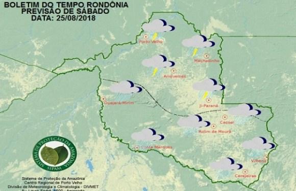 Sipam prevê nova frente fria em Rondônia neste final de semana