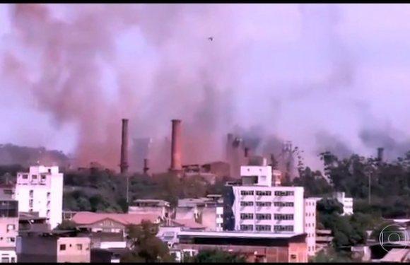 Explosão atinge usina da Usiminas em Ipatinga; veja vídeo