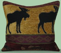 Moose with Fish Tapestry Pillow  Paine Products