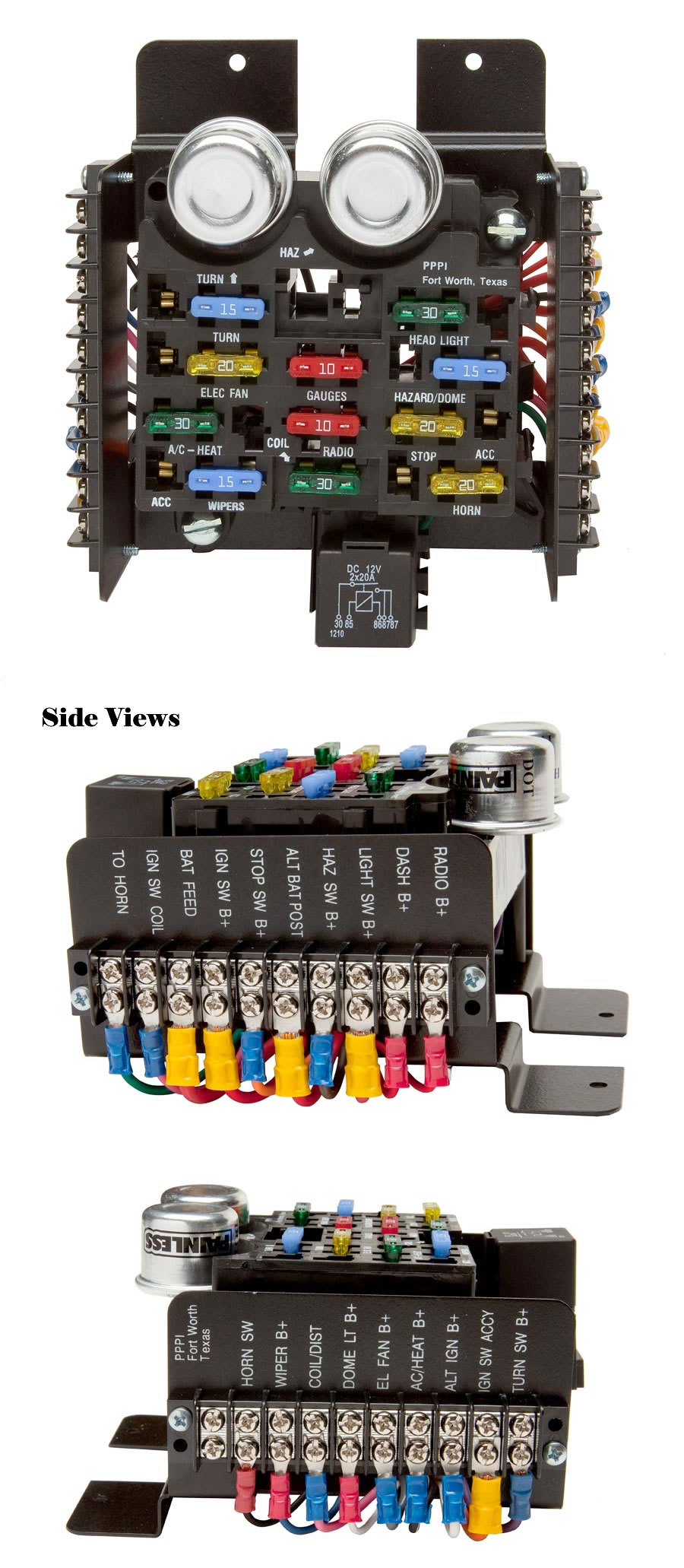 hight resolution of universal style pre wired 14 circuit fuse block painless performance universal painless fuse box