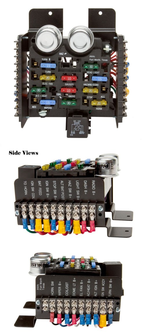 small resolution of universal style pre wired 14 circuit fuse block painless performance universal painless fuse box