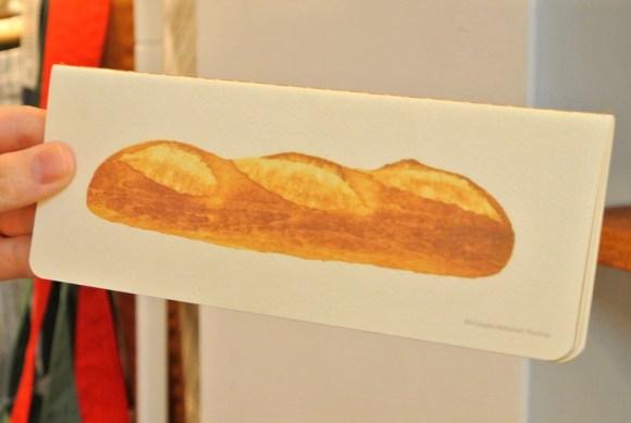 彦坂木版画工房のパンのノート「フランスパン」