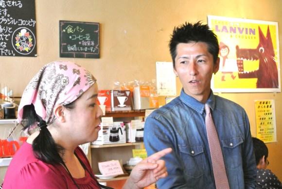 グロワールの一楽千賀さんとパンヲカタルの浅香正和さん