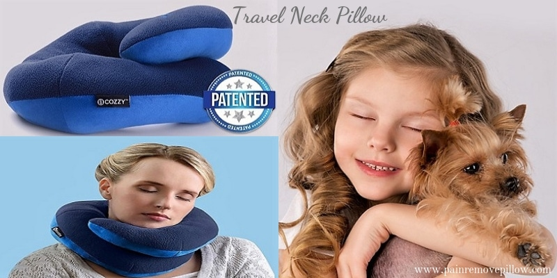 travel neck pillow bcozzy chin supporting pain remove pillow
