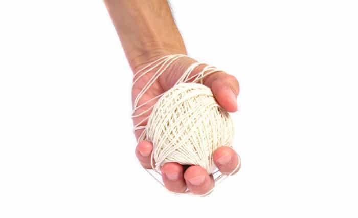 fingerstiedup