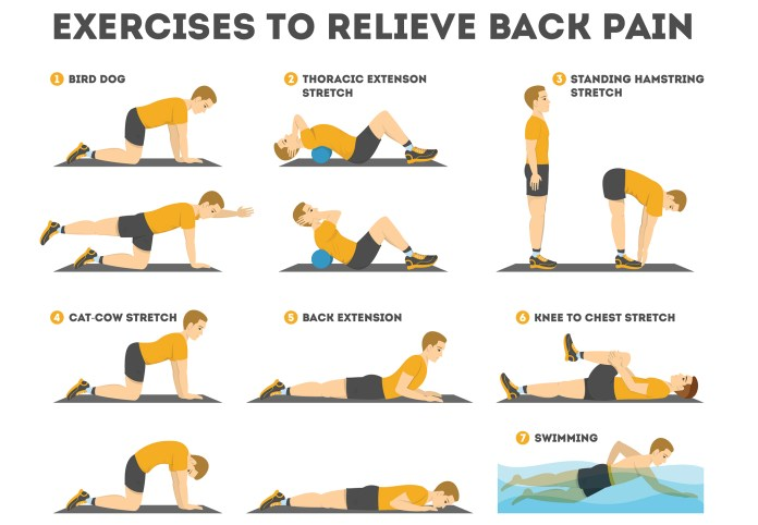 Exercise to relieve back pain