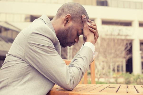 Black man in fibro fog living with fibromyalgia