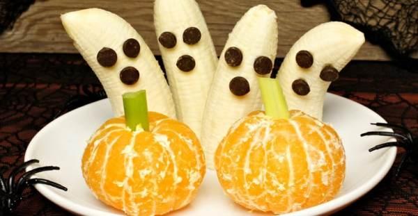 tangerine pumpkins and banana ghosts
