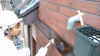 ガイナ 横浜市金沢区 コロニアル 屋根 塗装