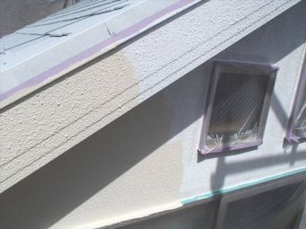 外壁リシンの塗替え (2)